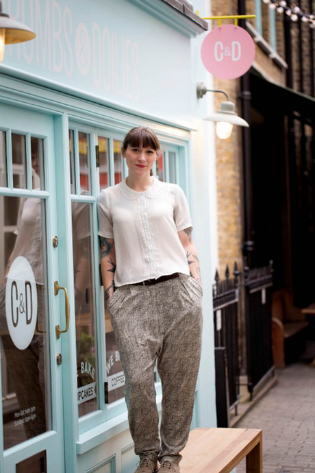 Jemma at her new shop in London / Photo courtesy of the London Evening Standrad