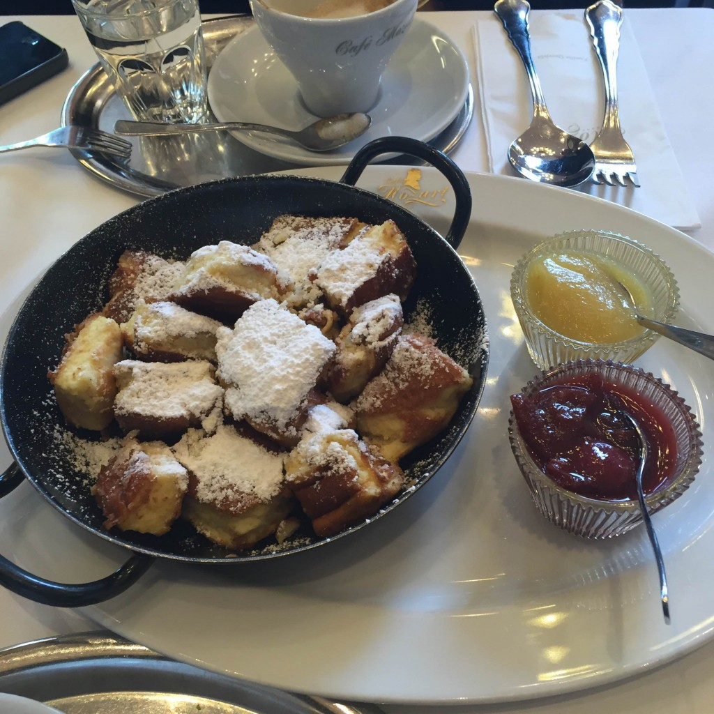 The Kaiserschmarrn in Cafe Mozart